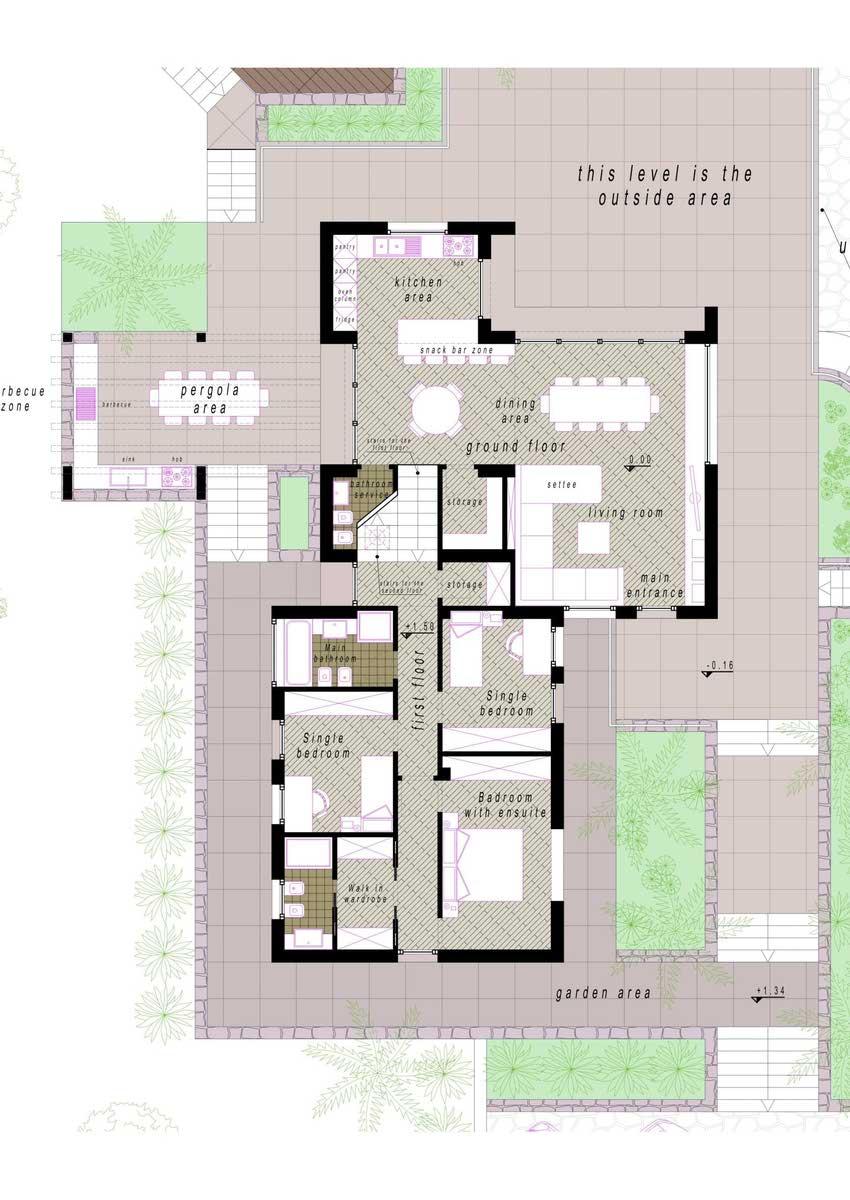 Projekt Erdgeschoss - Detail